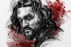 Jason Momoa Art Wallpaper