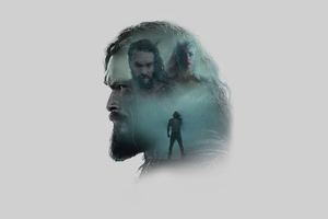 Jason Momoa As Aquaman Zack Synders Justice League Minimal Wallpaper
