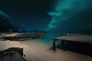 Jaws Beach In The Bahamas 5k Wallpaper