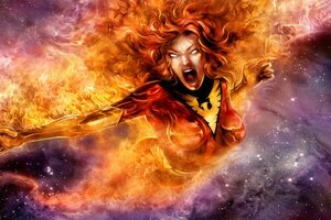 Jean Grey Phoenix Comic Character Wallpaper