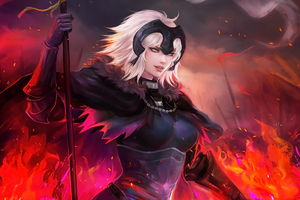Jeanne Alter Anime Fate Grand Order Wallpaper