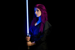 Jedi Star Wars Girl Cosplay 4k Wallpaper