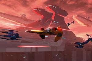 Jedi Starfighter Case Wallpaper