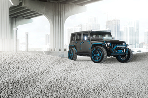 Jeep Wrangler Blue Grey 8k Wallpaper