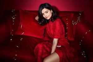 Jenna Coleman Red Dress Wallpaper