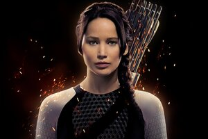 Jennifer Lawrence As Katniss Wallpaper