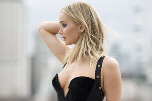 Jennifer Lawrence Black Dress Wallpaper