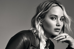 Jennifer Lawrence Monochrome 4k