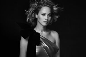Jennifer Lawrence Vanit Fiar Monochrome Wallpaper