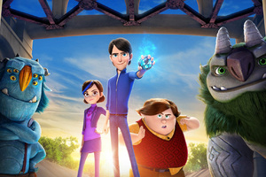 Jim Claire Toby Blinky Argh Trollhunters Wallpaper