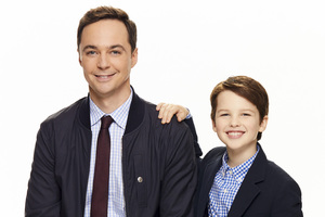 Jim Parsons And Young Sheldon Wallpaper
