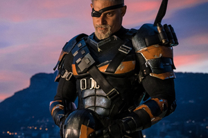 Joe Manganiello As Deathstroke In Justice League Wallpaper
