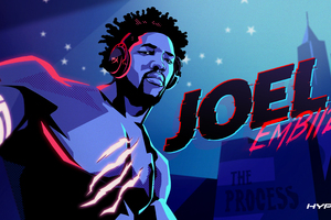 Joel Embiid NBA Player And Avid Gamer HyperX Wallpaper