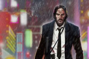 John Wick 3 Art Wallpaper