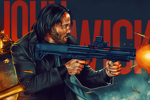 John Wick 4k Poster Wallpaper