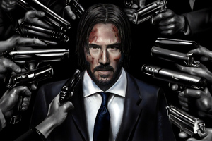 John Wick Art Wallpaper