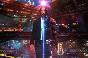 John Wick As Cyberpunk Wallpaper
