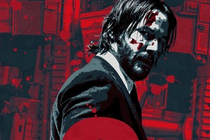 John Wick Chapter 2 2017 Artwork Poster Wallpaper
