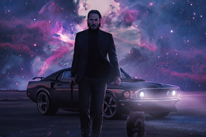 John Wick Dog 4k 2020 Wallpaper