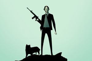 John Wick Dog 4k Wallpaper
