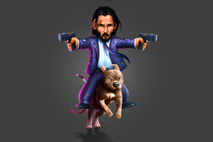John Wick Dog Rider Wallpaper