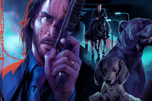John Wick Dogs Wallpaper