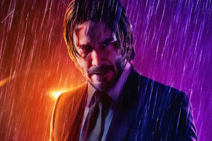 John Wick Rain 4k Wallpaper