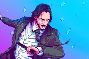 John Wick Sketchy Artwork