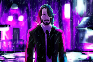 John Wick4k Art Wallpaper