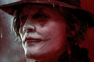Johnny Depp As Joker Wallpaper