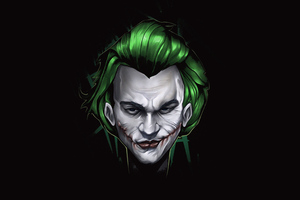 Joker 4k Face Minimal Wallpaper