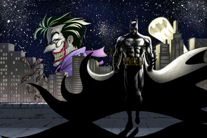 Joker And Batman Gotham Art