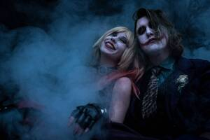 Joker And Harley Quinn 5k Cosplay Wallpaper