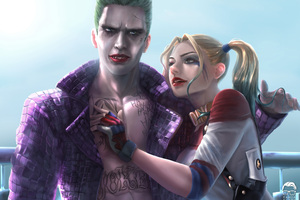 Joker And Harley Quinn 8K Artwork