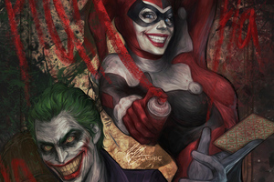 Joker And Harley Quinn Art 4k