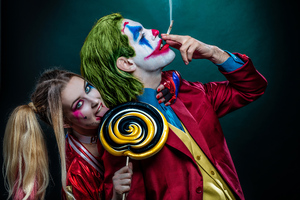 Joker And Harley Quinn Cosplay 4k Wallpaper