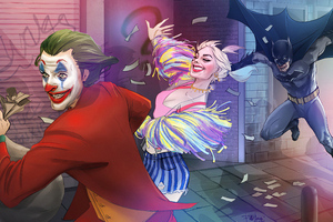 Joker And Harley Quinn Runaway Wallpaper