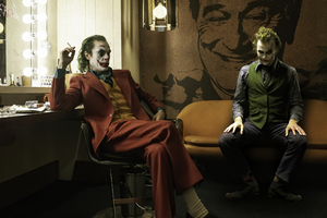 Joker And Heath Ledger Art
