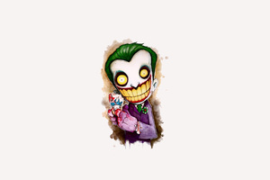 Joker Cartoon 4k Artwork