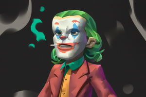 Joker Cigratte Smoking Art