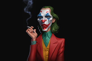 Joker Cigratte Smoking Time Wallpaper