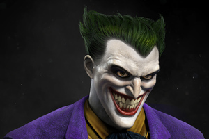 Joker Closeup Laugh Wallpaper