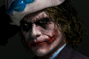 Joker Closeup Mask Up Wallpaper