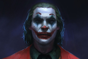 Joker Closeup Sketch Wallpaper