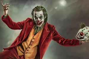Joker Clown Mask Wallpaper