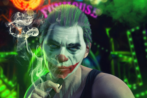 Joker Cool Smoker Wallpaper