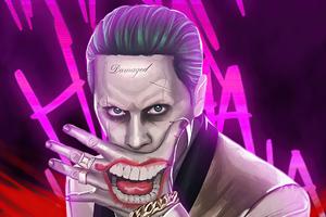 Joker Damaged 4k Wallpaper