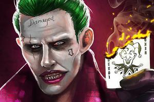 Joker Damaged Villain Wallpaper