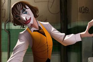 Joker Dance Art 4k Wallpaper