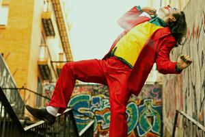 Joker Dance On Stairs Wallpaper
